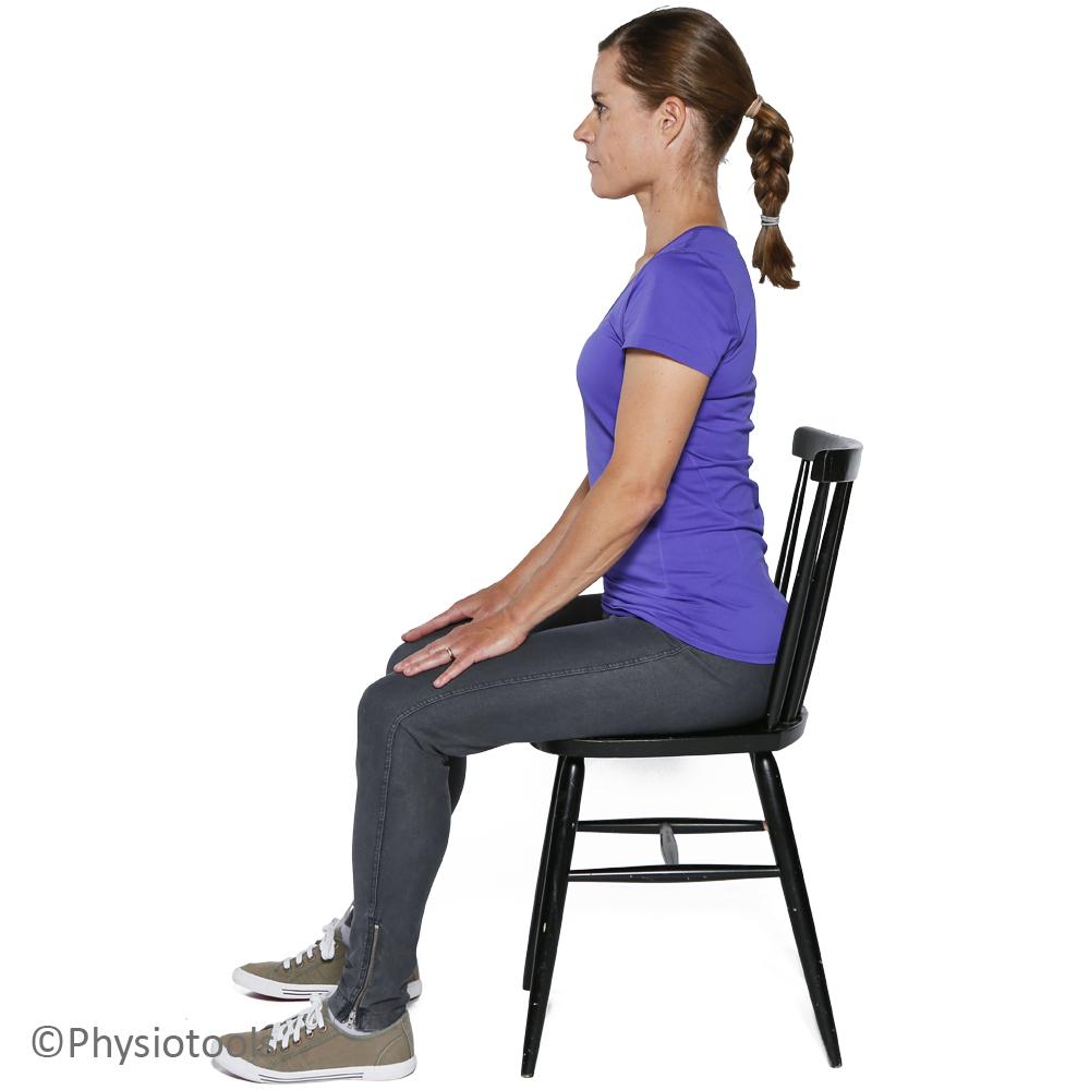 Avslappnad ryggradshållning