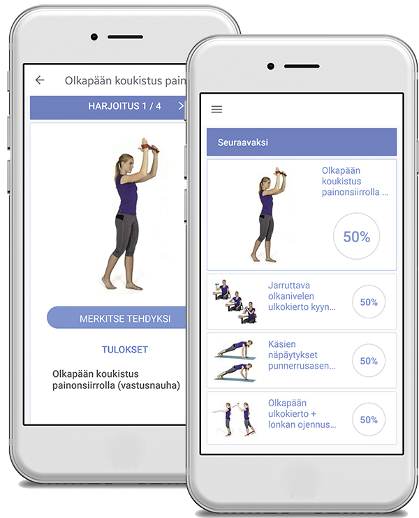 Physiotools Trainer -sovellus