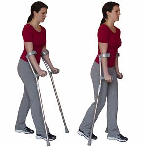 Walking with Crutches
