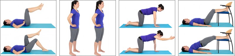 Trunk exercises controlling neutral spine