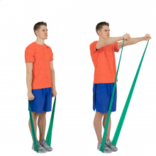 Shoulder Flexion with Exercise Band