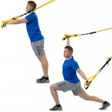 Stretch av främre kedjan med träningsband